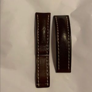 Breitling brown calf leather strap for deployment